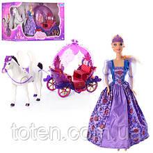 Карета  игровая с куклой и лошадкой  234A