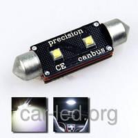 Светодиодная софитная (C10W) автолампа с обманкой 39mm 6w OSRAM Canbus (200Lm)