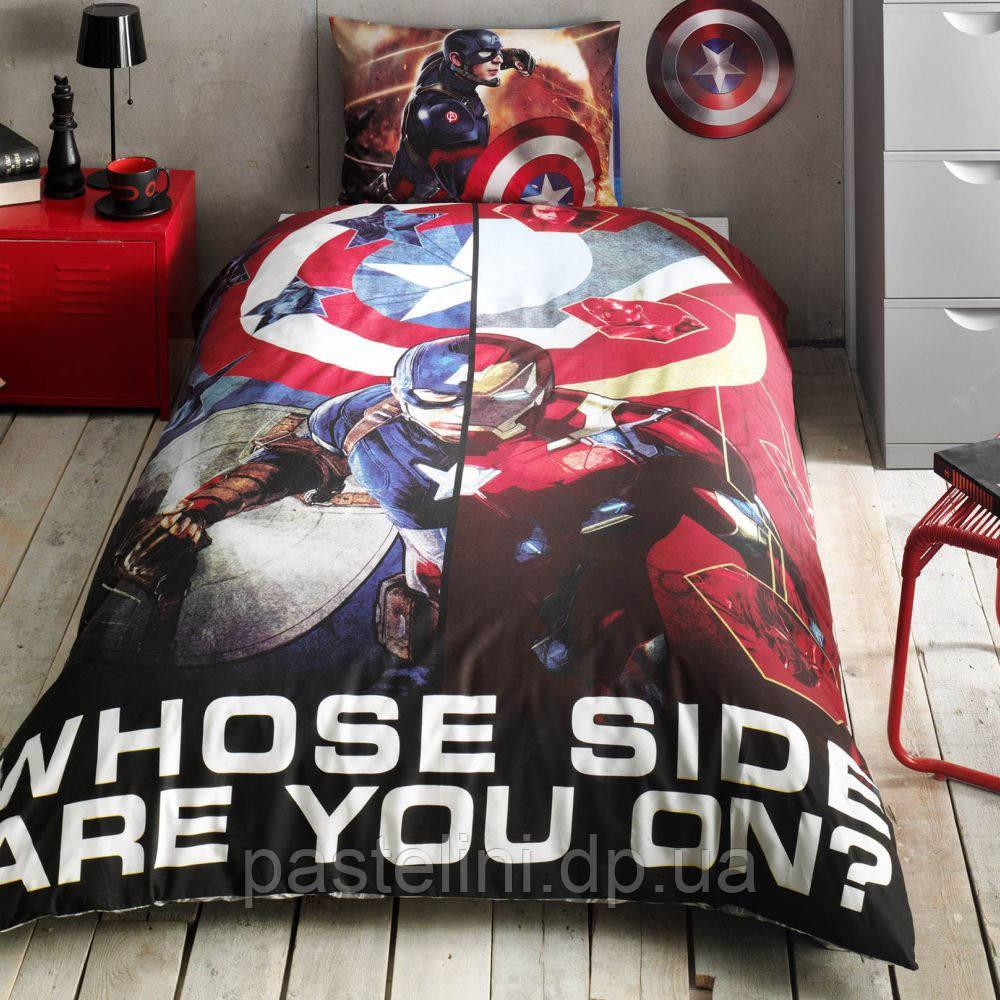 ТАС Детское постельное бельё Captain America Movie ( Капитан Америка)