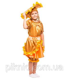 Детский костюм гриб Лисичка Солнышко на праздник Осени. Карнавальный маскарадный костюм для девочек. Новый!, фото 2