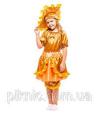 Детский костюм гриб Лисичка Солнышко на праздник Осени. Карнавальный маскарадный костюм для девочек. Новый!, фото 3