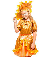 Детский костюм гриб Лисичка Солнышко на праздник Осени. Карнавальный маскарадный костюм для девочек. Новый!