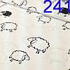 Белые и черные овечки на белом фоне