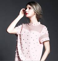 Нежное платье расшитое жемчугом в стиле Chanel