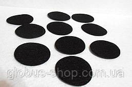 Фетровые кружки, черный  40 мм