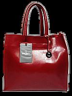 Женская стильная сумка GALANTY из натуральной кожи бордового цвета