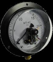 Электроконтактный манометр МТ-4С с фланцем (сигнализирующий)