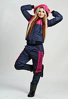 """Стильный тёплый женский спортивный костюм на синтепоне 1071 """"Adidas"""" в расцветках"""