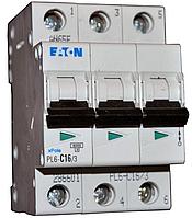 Автоматический выключатель PL6 3р 6А, С, Eaton