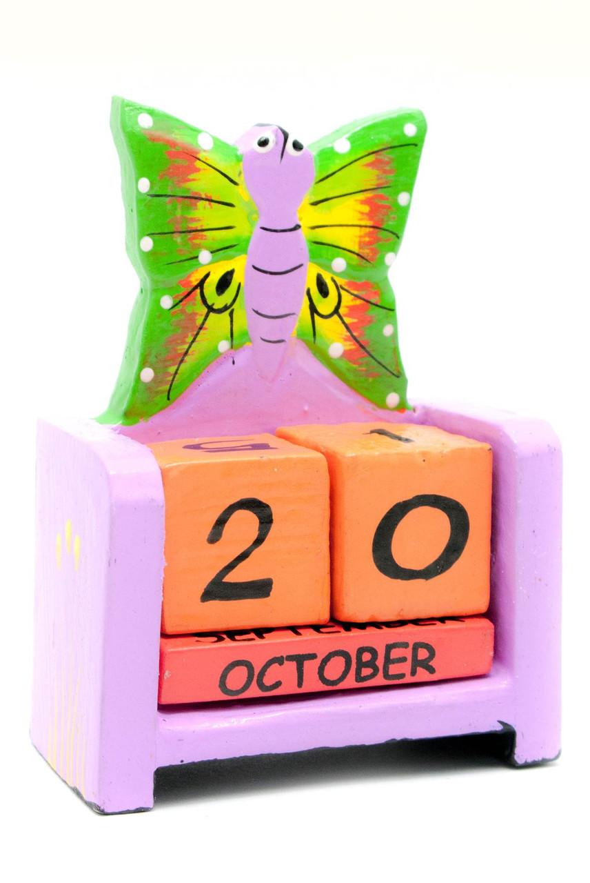 Настольный календарь деревянный