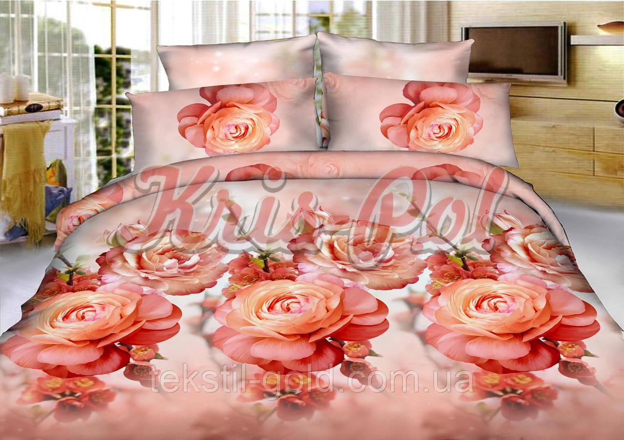 Комплект постельного белья полиэстер 3D ТМ KRIS-POL (Украина) полуторный 49903138