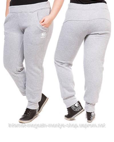 Спортивные штаны женские батал на флисе