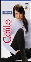 Женские хлопковые колготы Conte Cotton 400 den