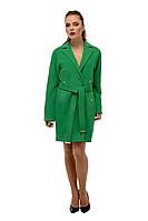 Пальто женское кашемировое осеннее  M-163-36-D Зеленый,магазин пальто