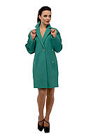 Пальто женское кашемировое осеннее Бирюза M-163-34-D,магазин пальто