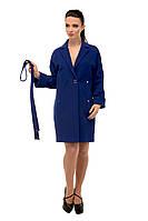 Пальто женское кашемировое осеннее M-163-07-D Электрик(44 и 44 размер)