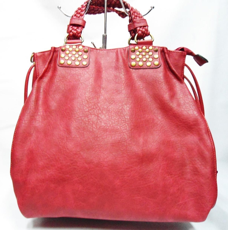 Привосходная женская сумка из искусственной кожи красного цвета TRL-109942, фото 1