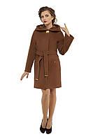 Пальто женское кашемировое осеннее Коричневый (Мокко) M-149-31-D,магазин пальто