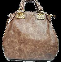 Привосходная женская сумка из искусственной кожи коричневого цвета TRL-104542