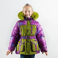 """Зимняя куртка для девочки """"Ажур""""  оптом и в розницу, фото 1"""
