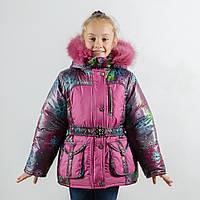 """Зимняя куртка для девочки """"Ажур""""  оптом и в розницу"""