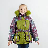 "Зимняя куртка для девочки ""Ажур"" зима, оптом и в розницу, фото 1"