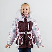 """Зимнее куртка для девочки """"Ажур"""" зима 2017 оптом и в розницу"""
