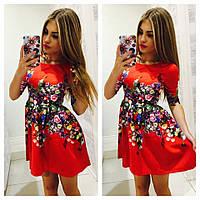 Красивое трикотажное платье(расцветки)