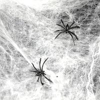 Паутина белая с пауками - декор на хэллоуин!