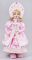 """Новогодняя  кукла """"Снегурочка в розовой шубке"""" 43 см"""