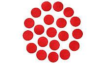 Фетровые круги заготовки Красные 3 см 10 шт/уп