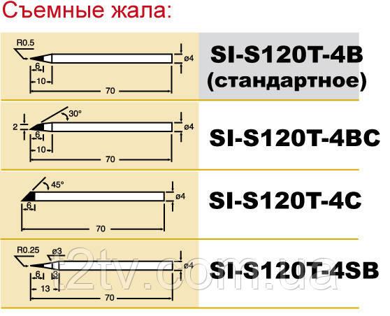 Жало Pro'sKit SI-S120T-4B конус