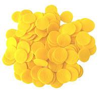 Фетровые круги заготовки Желтые 3 см 10 шт/уп