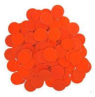 Фетровые круги заготовки Оранжевые 2 см 10 шт/уп, фото 1