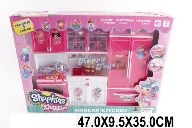Мебель кукольная для куклы барби с Shopkins Shoppies QF26210SK на 3 секции.
