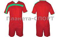 Форма футбольная без номера CO-4475-R(XL) (PL, р-р XL-50-52, красный, шорты красные)