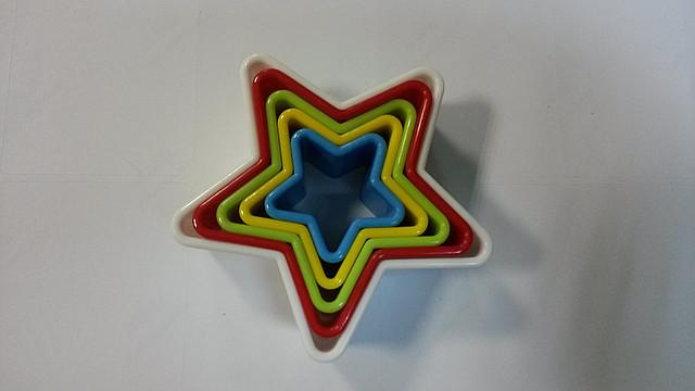 """Набор цветных вырубок """"Звезда 5шт."""" (код 02390)"""