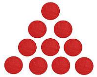 Фетровые круги заготовки Красные 3.5 см 10 шт/уп