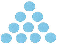 Фетровые круги заготовки Голубые 4 см 10 шт/уп