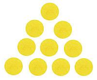 Фетровые круги заготовки Желтые 4 см 10 шт/уп