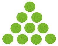 Фетровые круги заготовки Салатовые 4 см 100 шт/уп, фото 1