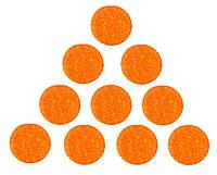 Фетровые круги заготовки Оранжевые 4 см 10 шт/уп