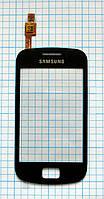 Тачскрин сенсорное стекло для Samsung S6500 Galaxy Mini 2 black