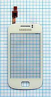 Тачскрин сенсорное стекло для Samsung S6500 Galaxy Mini 2 white