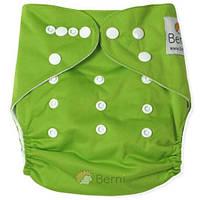 Подгузник детский многоразовый c вкладышем для новорожденного (размер 3-15 кг) ТМ Berni Салатовый