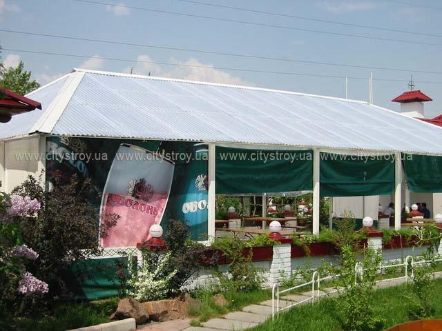 ПМП «Интергейтс», летняя площадка загородного клуба, сотовый поликарбонат Polygal