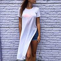 "Длинная футболка ""Фламинго"""