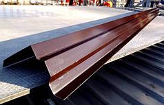 Вітрова планка, (торцева) для покрівлі RAL 8017, коричнева
