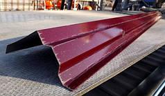 Вітрова планка, (торцева) для покрівлі RAL 3005, червона