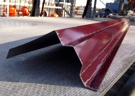 Ветровая планка, (торцевая) для кровли RAL 3005, красная, фото 2